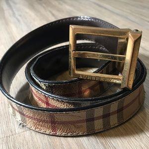 Burberry Men's Signature Check Leather Belt